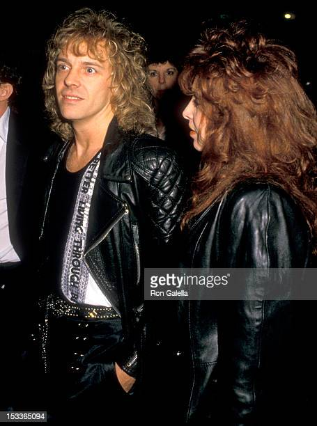 Musician Peter Frampton and wife Barbara Gold attend the 15th Annual American Music Awards After Party on January 15 1988 at Chasen's Restaurant in...