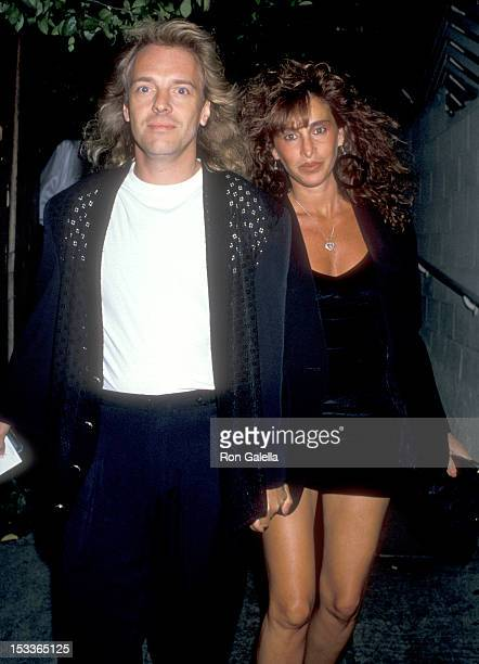 Musician Peter Frampton and wife Barbara Gold on July 28 1989 dine at Spago in West Hollywood California