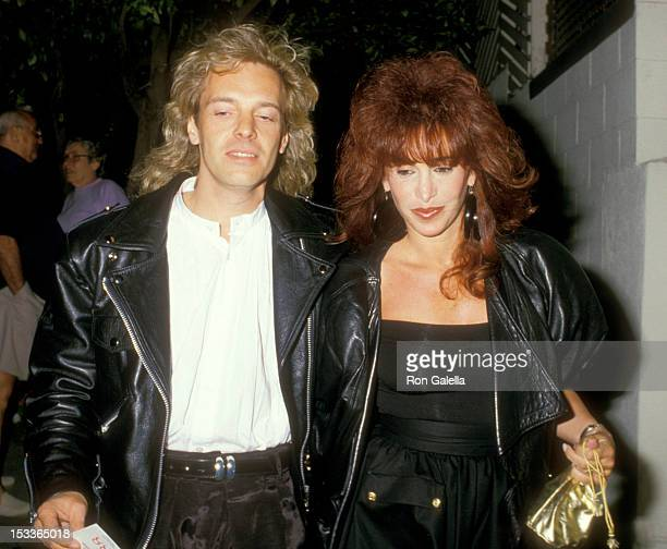 Musician Peter Frampton and wife Barbara Gold on June 17 1988 dine at Spago in West Hollywood California