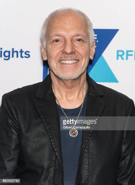 Musician Peter Frampton attends Robert F Kennedy Human Rights Hosts Annual Ripple Of Hope Awards Dinner at New York Hilton on December 13 2017 in New...