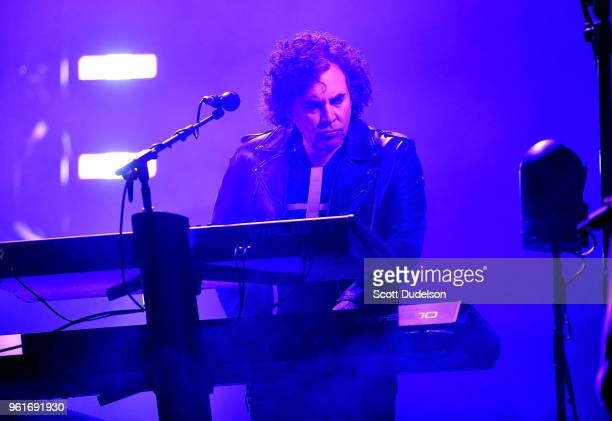 Musician Peter Gordeno touring member of the band Depeche Mode performs onstage at Honda Center on May 22 2018 in Anaheim California
