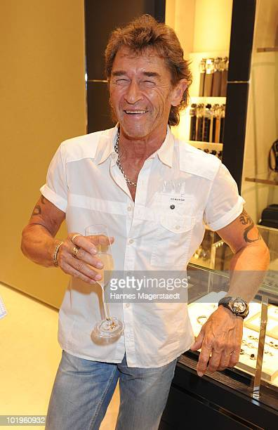 Musician Peter Maffay attends the Montblanc White Night at the Montplanc shop on June 10 2010 in Munich Germany