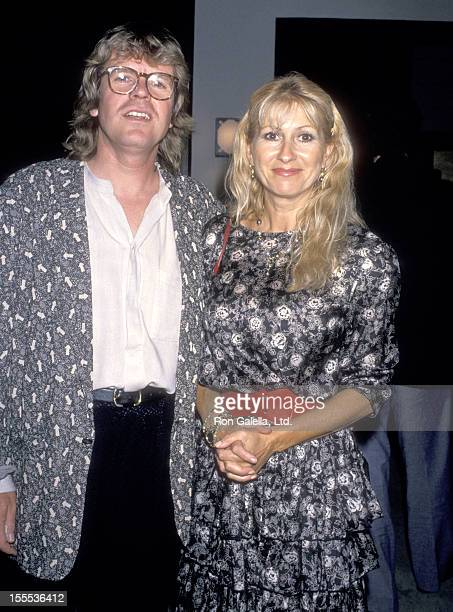 Musician Peter Noone and wife Mireille Strasser attend the Cocktail Reception to Celebrate Bernadette Peters and Peter Allen's OneNightOnly Concert...