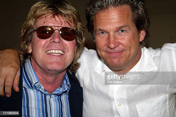 Musician Peter Noone with Jeff Bridges during Seabiscuit Premiere Hosted by Santa Barbara International Film Festival Gala at Restaurant Nu at...