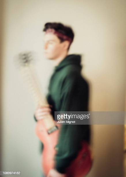 Musician Petit Biscuit poses for a portrait on March 2018 in Paris France