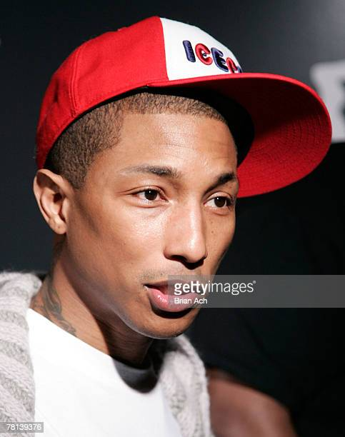 Musician Pharell Williams at the Billionaire Boys Club / Ice Cream Flagship Store Opening on November 28 in New York City