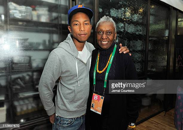 Musician Pharrell Williams and fashion icon/filmmaker Bethann Hardison attend the TAA Key Ingredients Lunch at the 2011 Tribeca Film Festival at...