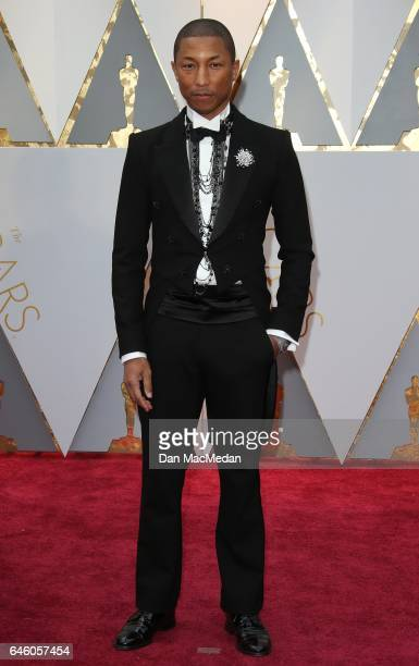 Musician Pharrell Williams arrives at the 89th Annual Academy Awards at Hollywood Highland Center on February 26 2017 in Hollywood California
