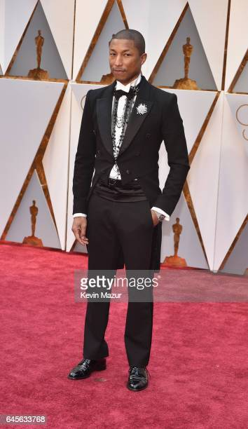 Musician Pharrell Williams attends the 89th Annual Academy Awards at Hollywood Highland Center on February 26 2017 in Hollywood California