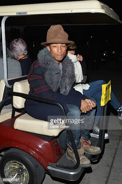"""Musician Pharrell Williams attends """"The Night That Changed America: A GRAMMY Salute To The Beatles"""" at the Los Angeles Convention Center on January..."""