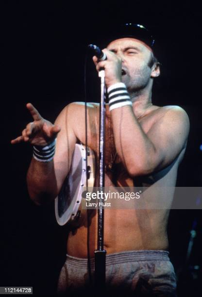 Musician Phil Collins and Genesis perform at the Greek Theater in Berkeley California on August 13 1982