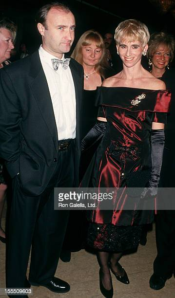 Musician Phil Collins and wife Jill Tavelman attending Third Annual Fire and Ice Ball on December 6 1993 at the Beverly Hilton Hotel in Beverly Hills...