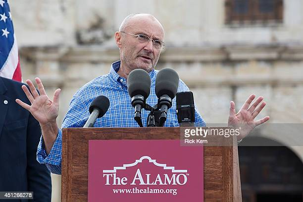 Musician Phil Collins announces the donation of the largestknown private collection of artifacts from the Texas Revolution and the battle of the...