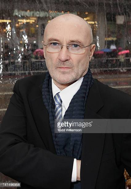 Musician Phil Collins arrives at Relativity Media's 'Mirror Mirror' Los Angeles premiere at Grauman's Chinese Theatre on March 17 2012 in Hollywood...