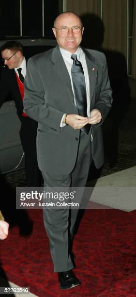 Musician Phil Collins arrives at the 'Music Day At The Palace' event at Buckingham Palace on March 1 2005 in London England The Royal reception was...
