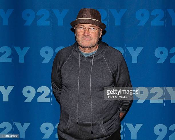Musician Phil Collins attends the 92nd Street Y Presents Phil Collins In Conversation with Anthony Mason at the 92nd Street Y on October 26 2016 in...