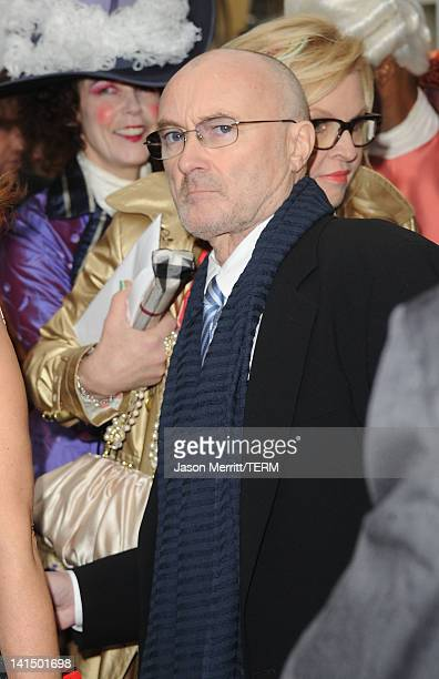 Musician Phil Collins attends the 'Mirror Mirror' premiere at Grauman's Chinese Theatre on March 17 2012 in Hollywood California