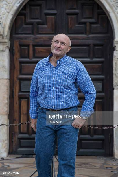 Musician Phil Collins poses after announcing the donation of the largestknown private collection of artifacts from the Texas Revolution and the...