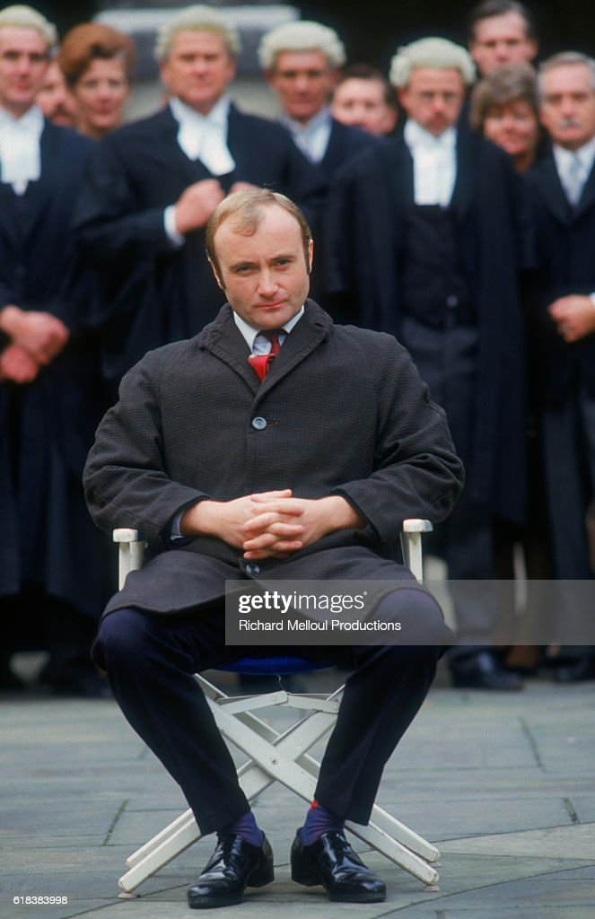 Phil Collins on Set of Buster : Photo d'actualité