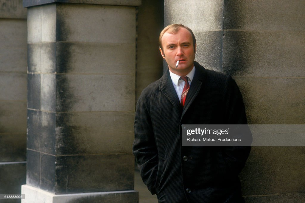 Phil Collins on Set of Buster : Photo d'actualité