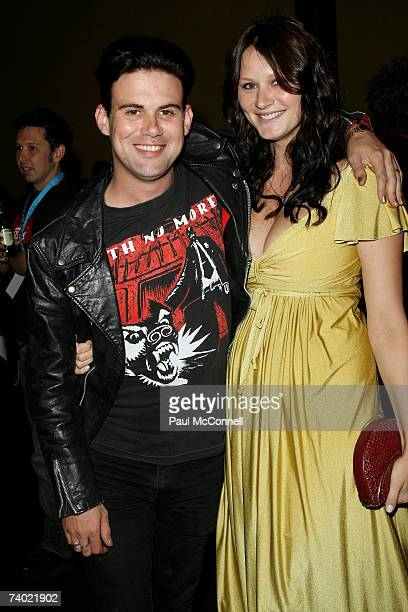 Musician Phil Jamieson of the band Grinspoon relaxes in the Departure Lounge ahead of walking the red carpet at the third annual MTV Australia Video...