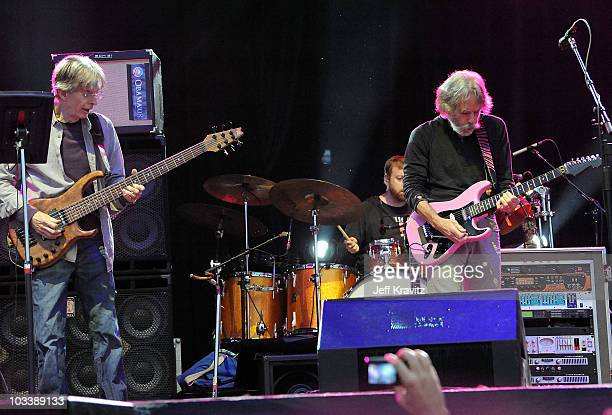 Musician Phil Lesh and Bob Weir perform with Furthur at the 2010 Outside Lands Music and Arts Festival at Golden Gate Park on August 14 2010 in San...
