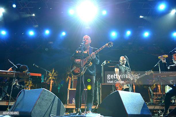 Musician Philip Selway performs onstage during day 3 of the 2015 Coachella Valley Music & Arts Festival at the Empire Polo Club on April 12, 2015 in...