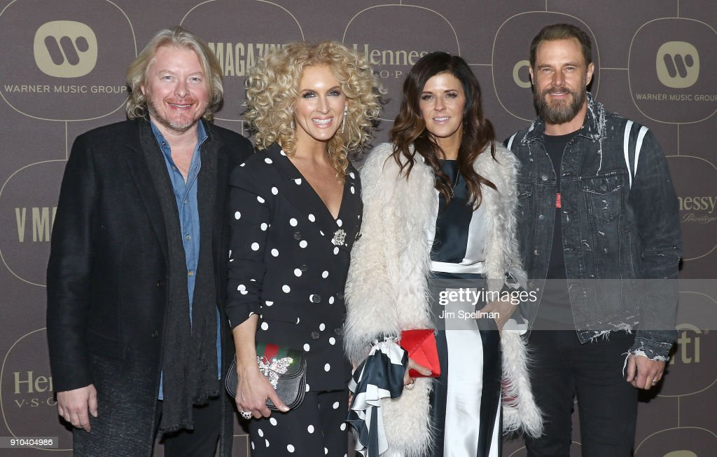 Musician Philip Sweet, singers Kimberly Schlapman, Karen Fairchild and musician Jimi Westbrook attend the 2018 Warner Music Group Pre- Grammy Celebration at The Grill & The Pool Restaurants on January 25, 2018 in New York City.