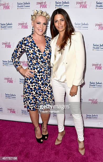 Musician Pink and model Camila Alves attend Power of Pink 2014 Benefiting the Cancer Prevention Program at Saint John's Health Center at House of...