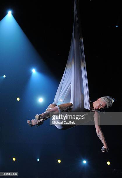 Musician Pink performs onstage at the 52nd Annual GRAMMY Awards held at Staples Center on January 31 2010 in Los Angeles California