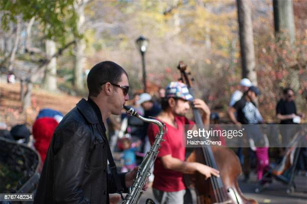 Musician play at Central Park