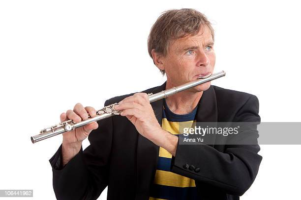 Musician playing flute