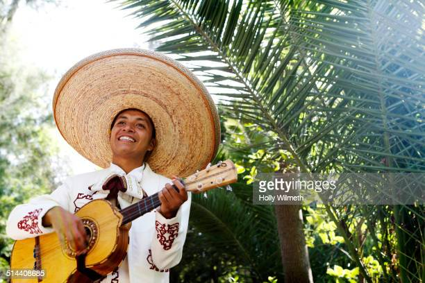 musician playing in mariachi band, san miguel de allende, guanajuato, mexico - mexican hat stock pictures, royalty-free photos & images