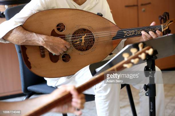 Musician plays an oud during Yiddish Summer Weimar on July 27, 2018 in Weimar, Germany. The annual five-week summer institute and festival,...