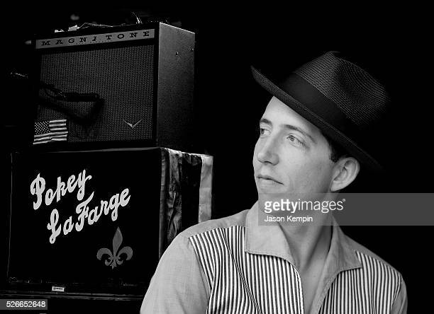 Musician Pokey LaFarge poses for a photo during 2016 Stagecoach California's Country Music Festival at Empire Polo Club on April 30 2016 in Indio...