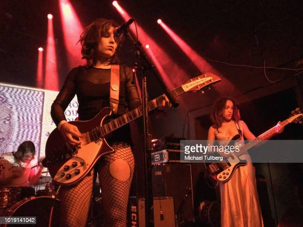 Musician Poppy Jean Crawford performs during Echo Park Rising 2018 on August 18 2018 in Los Angeles California