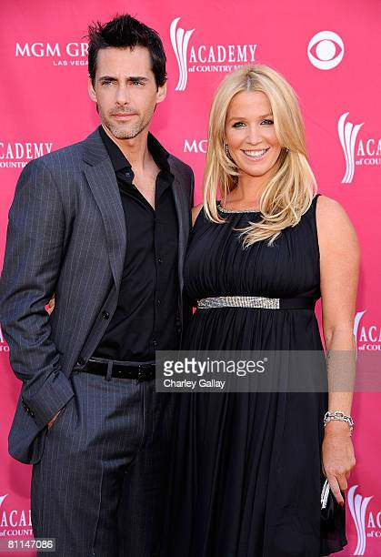 Musician Poppy Montgomery and guest arrives at the 43rd annual Academy Of Country Music Awards held at the MGM Grand Garden Arena on May 18 2008 in...