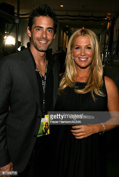 ACCESS*** Musician Poppy Montgomery and guest backstage at the 43rd annual Academy Of Country Music Awards held at the MGM Grand Garden Arena on May...
