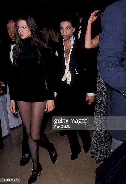 Musician Prince and singers Lori Elle and Robie LaMorte attending ASCAP Music Awards on May 15 1991 at the Beverly Hilton Hotel in Beverly Hills...
