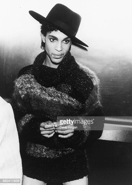 Musician Prince arriving at the BBC Radio 1 studios London April 1st 1987