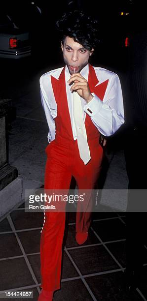 Musician Prince attending Party for Eighth Annual MTV Video Music Awards on September 5 1991 at Le Dome Restaurant in Hollywood California