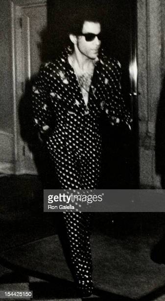 Musician Prince being photoraphed on June 21 1988 at the Plaza Athenee Hotel in New York City New York