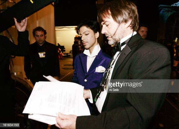 Musician Prince is photographed backstage at the 77th Annual Academy Awards for Los Angeles Times on February 27 2005 at the Kodak Theater in Los...