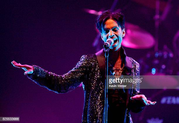 Musician Prince performs at the Conga Room LA Live on March 29 2009 in Los Angeles California