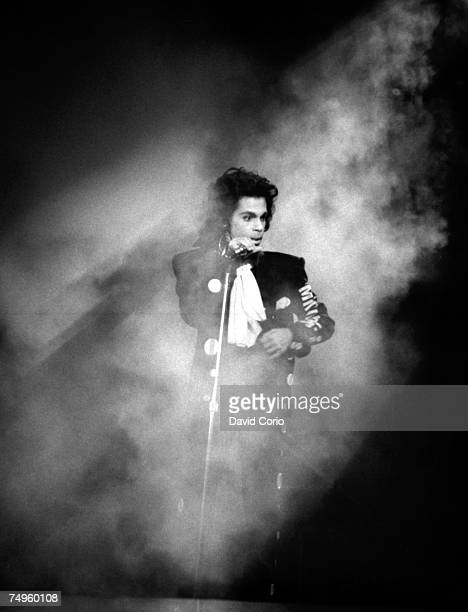 Musician Prince performs live at Wembley Arena on July 28 1988 in London England