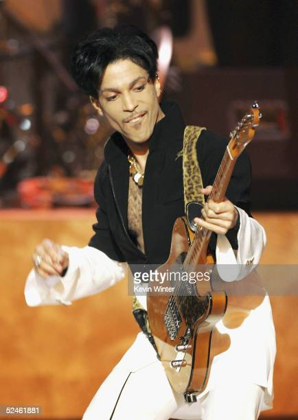 Musician Prince performs on stage at the 36th Annual NAACP Image Awards at the Dorothy Chandler Pavilion on March 19 2005 in Los Angeles California