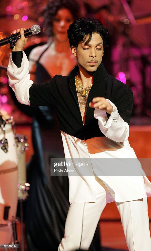 Musician Prince performs on stage at the 36th NAACP Image Awards at the Dorothy Chandler Pavilion on March 19, 2005 in Los Angeles, California.
