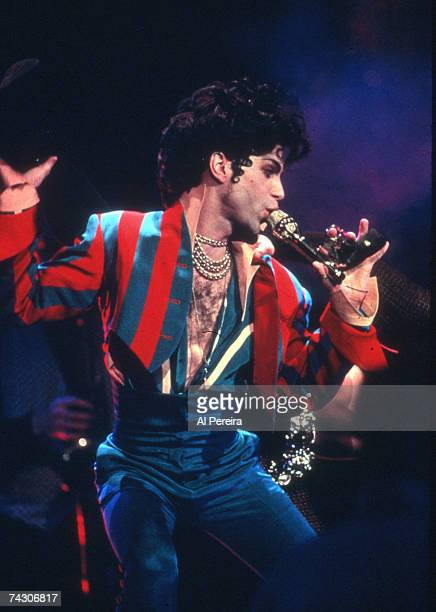 Musician Prince performs onstage at Radio City Music Hall on March 24, 1993 in New York, New York.