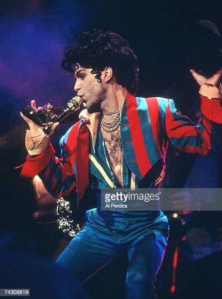 Musician Prince performs onstage at Radio City Music Hall on March 24 1993 in New York New York