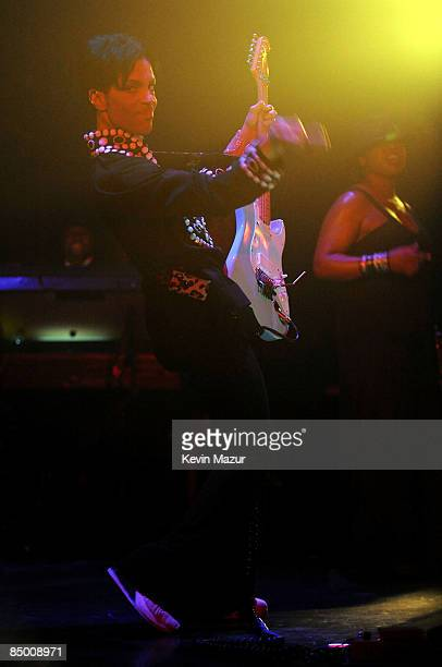 **EXCLUSIVE** Musician Prince performs onstage at The Purple Party for LotusFlow3rcom held at Avalon on February 22 2009 in Hollywood California